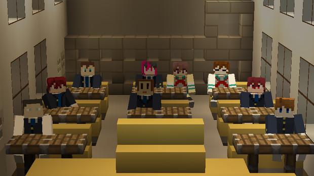 【Minecraft 】クラフターさん達でマイクラ学園