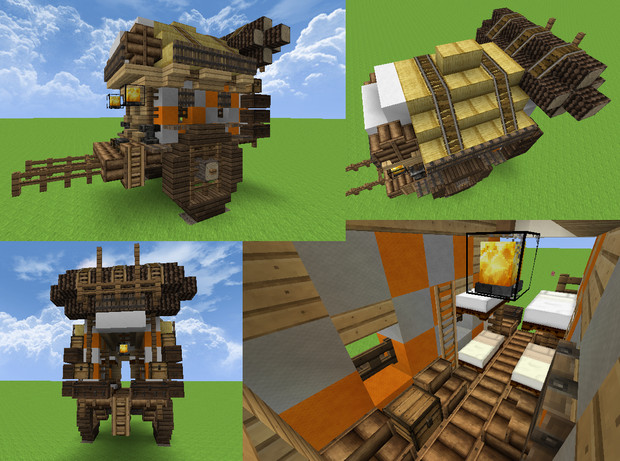 【Minecraft】行商隊の荷車