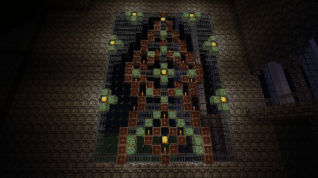 Minecraft】 橋の横にお城建て