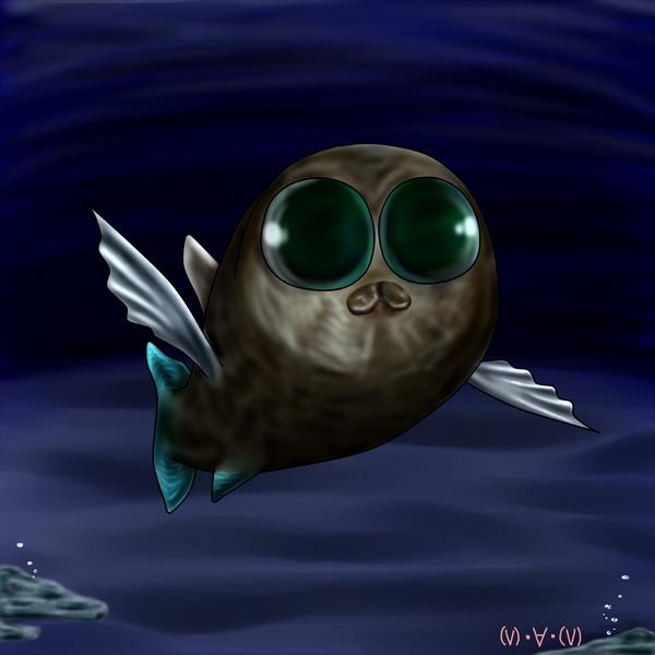【深海魚】クロデメニギス 【深海魚】クロデメニギス / (V)・∀・(V) さんのイラスト -