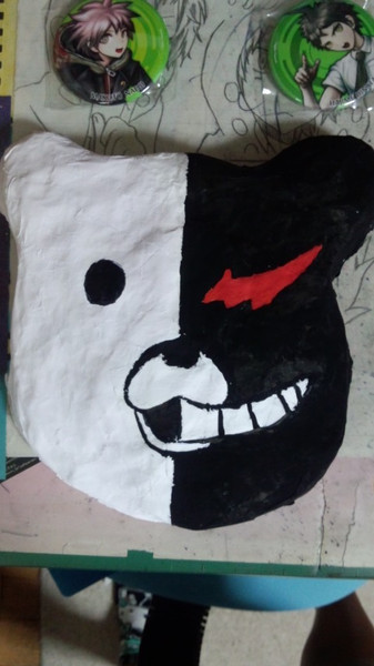 {作ってみた}モノクマ仮面 {作ってみた}モノクマ… 投稿者:マメ さん ダンガンロンパの