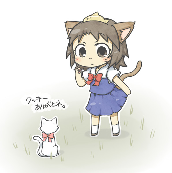 猫の恩返しのデフォルメ