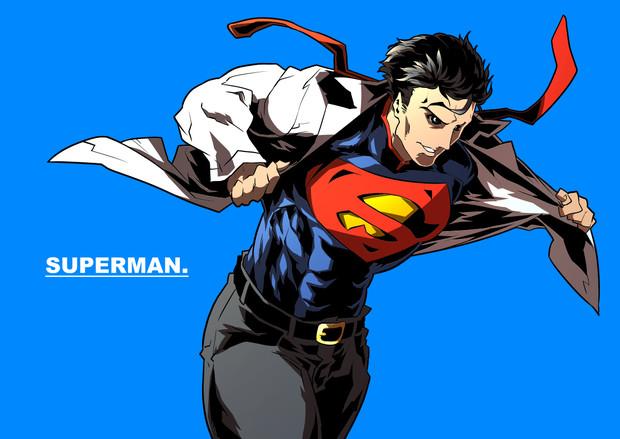 スーパーマンの変身シーン