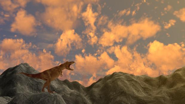 山の上のティラノサウルス