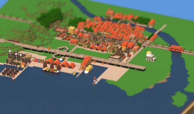 【Minecraft】ミニチュアの街 その2