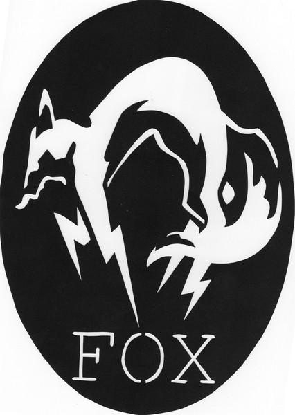 切り絵 FOX部隊エンブレム  切り絵 FOX部隊エンブレム MGSシリーズよりFOX部隊のエン