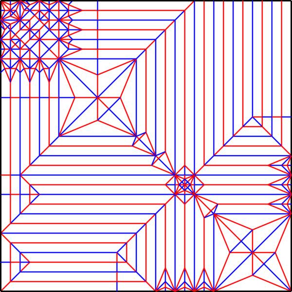 すべての折り紙 折り紙 折り方 難しい 立体 : リオレウス展開図(山谷付き ...