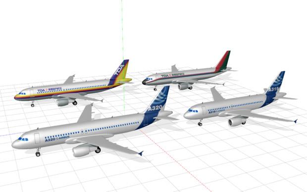 A320改修・テクスチャ配布のお知らせ あとA319単品配布のお知らせ