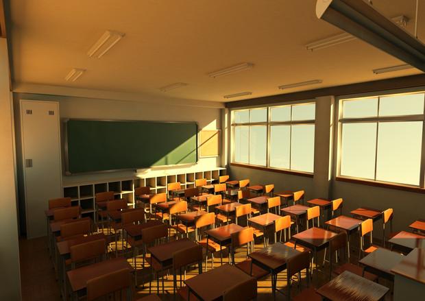 夕暮れ時の教室 夕暮れ時の教室 / かげやん さんのイラスト - ニコニコ静画 (イラスト)