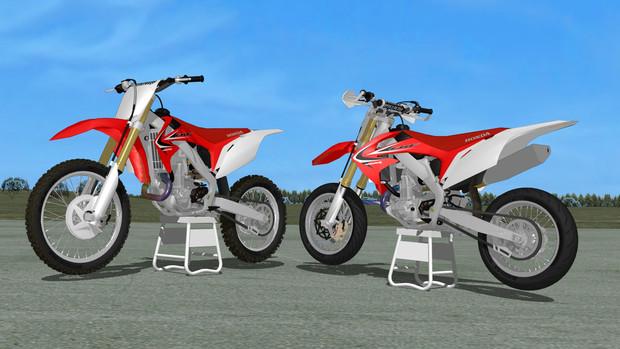 【MMD用】CRF450R 2012 model