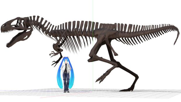 アクロカントサウルス全身骨格モデル配布