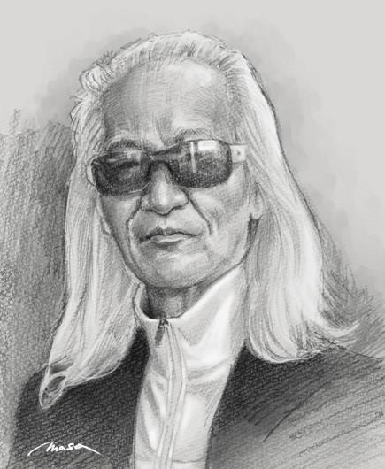 内田裕也のイラスト