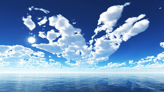 雲の動き青空