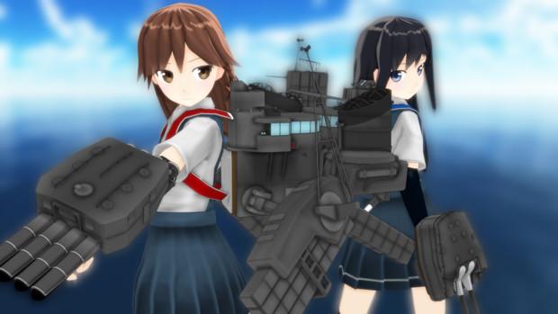 【MMDモデル配布】駆逐艦 荒潮 Ver1【MMD艦これ】
