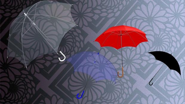 【MMD-OMF6】雨傘 ビニール傘