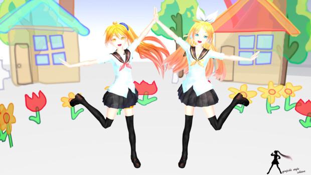 【モデル配布あり】鏡音リン&亞北ネル-Sailor夏服【銀獅モデル】