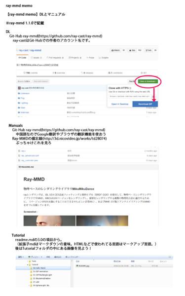 【ray-mmd memo】01.DLとマニュアル
