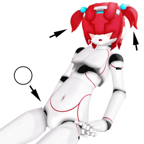 【MMD】シャムくん用追加パーツ、あと本体モデル更新【モデル配布】