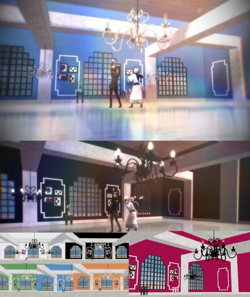 窓のある部屋ステージ【ステージ配布】