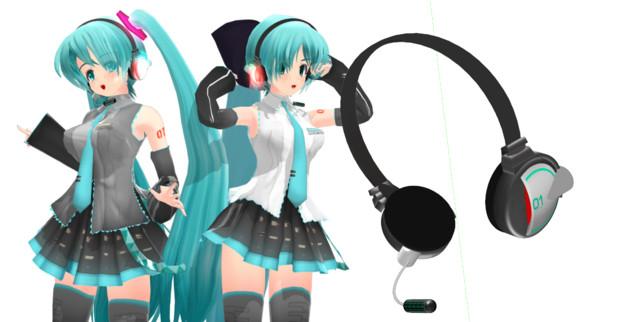 【MMD】こばやし式らぶさん用ヘッドセット
