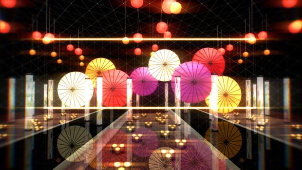 番傘と明かり