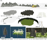 MMD配布:高原または雪原または森