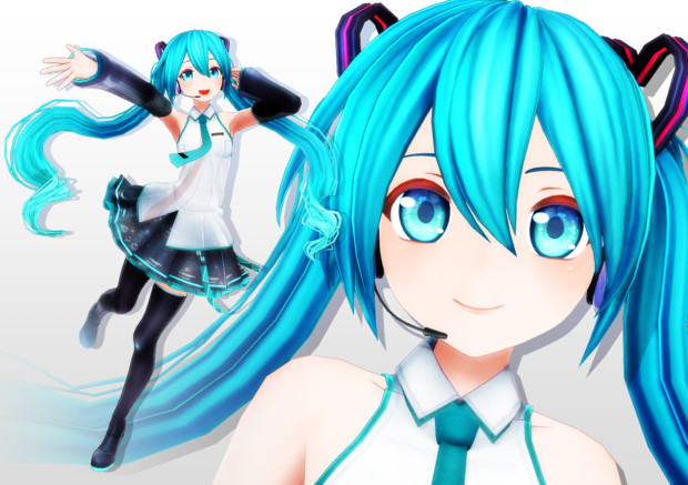 【MMD-OMF7】カルも式初音ミクver1.1_8/31モデル更新