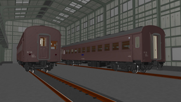 【モデル配布】オハ61系客車(β版)【MMD鉄道】