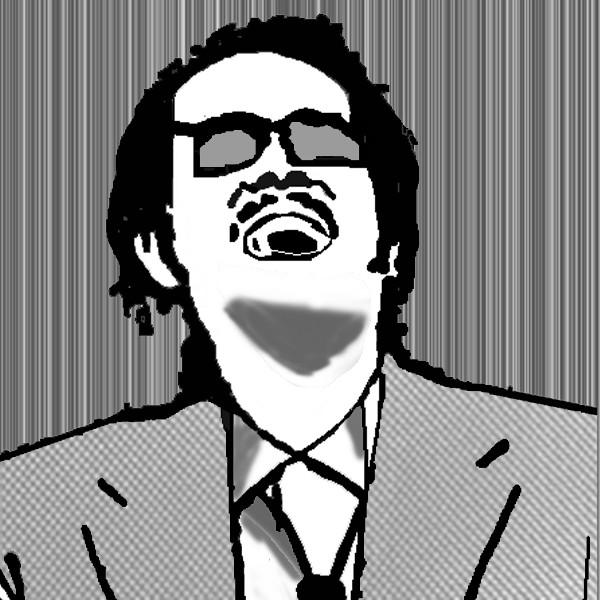 <デスノ風似顔絵>映画:凶悪のリリー・フランキー