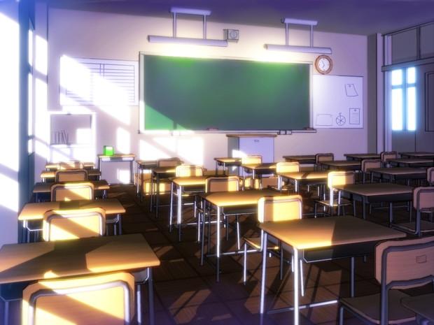 教室 教室 / ひでみん さんのイラスト - ニコニコ静画 (イラスト)