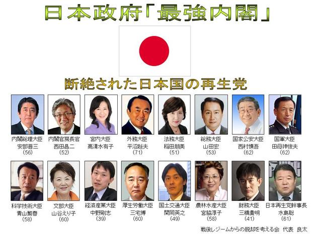 日本政府 「最強内閣!」   日本政府 「最強内閣!… 投稿者:良太GOGO! さん この内閣を
