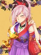 聖杯雑煮を食う武蔵ちゃん