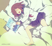 寝付きの悪い提督に絵本を読んであげる!と来たのに即寝落ちする雷ちゃん