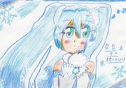 白い雪の発音ミク