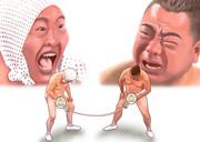 ○タマフラスコ綱引き対決