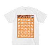シンプルデザインTシャツ WANTED MONSTER(ORANGE)