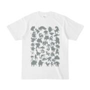 シンプルデザインTシャツ MONSTER☆43MAP(GRAY)