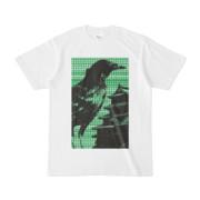 シンプルデザインTシャツ M-CrowCastle(GREEN)