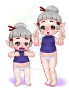 ココナちゃんとプリコちゃん姉妹