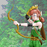 弓兵的な少女