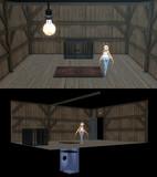 床下水槽の部屋【MMDステージ配布】