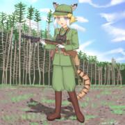 小隊長剣歯虎ちゃんと一〇〇式機関短銃