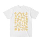 シンプルデザインTシャツ MONSTER☆43MAP(KHAKI)