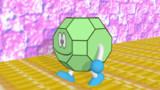 [GIFアニメ] 後ろに走る斜方切頂立方八面体