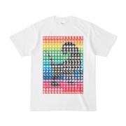 シンプルデザインTシャツ MONSTER-REX41(RAINBOW)