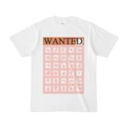 シンプルデザインTシャツ WANTED MONSTER(PINK)