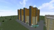 【Minecraft】中層増築 高層団地  建築