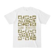 シンプルデザインTシャツ GAME MONSTER(OLIVE)