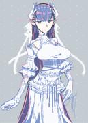 謎白ドレスさん。