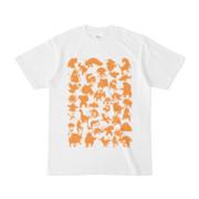 シンプルデザインTシャツ MONSTER☆43MAP(ORANGE)